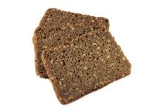 Three Slices Of Rye Bread Stock Photography