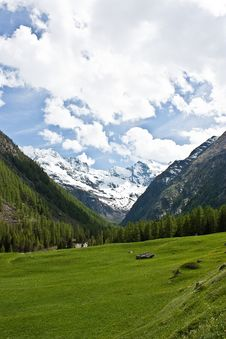 Free Alpine Panorama Stock Photography - 14873392