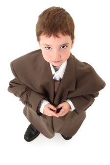 Adorable Boy In Suit Stock Photography