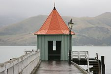 Free Rainy Wharf, Akaroa Royalty Free Stock Photography - 14873977