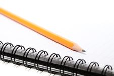 Free Notepad With A Pencil On Top Royalty Free Stock Images - 14874119