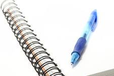 Free Spiral Sketchbook With A Pen On Top Stock Photography - 14874132
