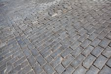 Brick Road In New York City Royalty Free Stock Photography