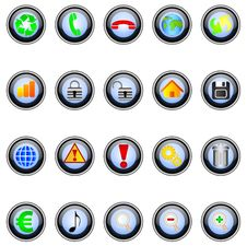 Free Buttons Royalty Free Stock Images - 14874469