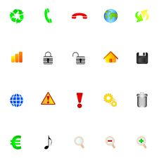 Free Icons Royalty Free Stock Photos - 14874488