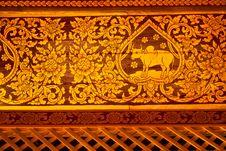 Free Exquisite Thai Painting Stock Photo - 14874550