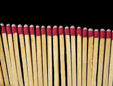 Free Matches Isolated On Black Royalty Free Stock Photography - 14874967