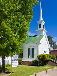Free Methodist Church In Sutter Creek Stock Image - 14874971
