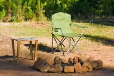 Free Camp Fire Site Royalty Free Stock Photography - 14875017