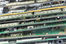 Ruin Mobile Phone Mainboard. Royalty Free Stock Photography