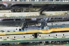Ruin Mobile Phone Mainboard. Stock Photography