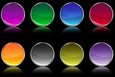 Free Web Buttons Royalty Free Stock Photos - 14875288