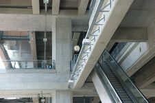 Structure Of Elevated Train Station In Bangkok Royalty Free Stock Photography