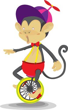 Free A Monkey Doing Cycling Royalty Free Stock Photo - 14875825