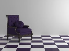 Free Classic Violet Sofa Royalty Free Stock Images - 14876319