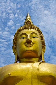 Face Huge Buddha Image Stock Photography