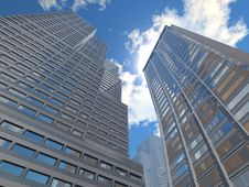 Free There Is A Sky-scraper Downtown City Stock Photo - 14876510
