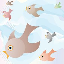 Free Baby Birds Learn To Fly Stock Image - 14876581