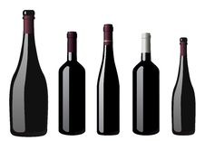 Free Bottles Of Red Wine Royalty Free Stock Images - 14876919