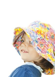 Free Tree Years Old Girl With Hat - Profile Royalty Free Stock Image - 14877046