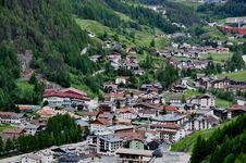 Panoramic View To Soelden, Austria Stock Photography