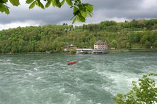 Free Waterfall Rhine Falls (Rheinfall) At Schaffhausen Royalty Free Stock Image - 14877996