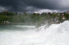 Free Waterfall Rhine Falls (Rheinfall) At Schaffhausen Royalty Free Stock Images - 14877999