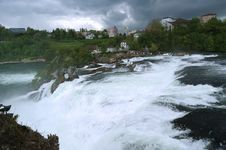 Free Waterfall Rhine Falls (Rheinfall) At Schaffhausen Royalty Free Stock Image - 14878036