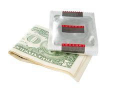 Condom And Money Stock Photos