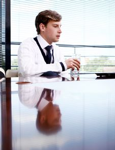 Free Happy Business Man In The Office Stock Image - 14878321