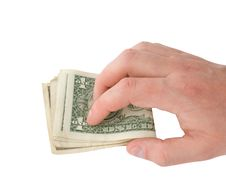 Free Holding Money In Hand Royalty Free Stock Photography - 14878327