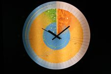 Clock In The Form Of The Globe In The Section Stock Photography