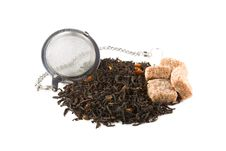 Free Tea-stainer With Tea And Brown Sugar Stock Images - 14878704