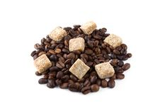Free Coffee Beans With Brown Sugar Royalty Free Stock Image - 14879446