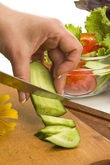 Free Salad Preparing Royalty Free Stock Photos - 14879468