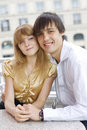 Free Lovely Couple In Cafe Stock Photo - 14883700