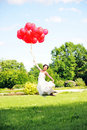 Free Bride  With Balloons Stock Photos - 14888793