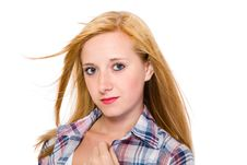Free Young Attractive Female Portrait, Isolated Royalty Free Stock Photo - 14880285