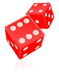 Dice Illustration Royalty Free Stock Images