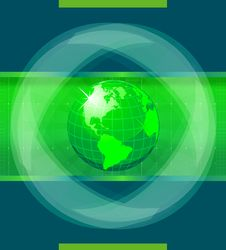 Free Green World Globe Stock Photos - 14880803