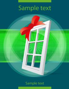 Free Perspective Plastic Window Illustration Royalty Free Stock Photography - 14880807