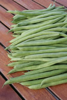 Free French Green Beans On Table Royalty Free Stock Images - 14880829