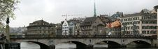 Free Switzerland, Zurich, Panoramic View Of The City Royalty Free Stock Photos - 14881108