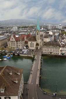 Free Switzerland, Zurich, View Of The City Royalty Free Stock Photo - 14881155