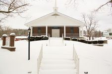 Free Snow Covered Church Stock Images - 14881294
