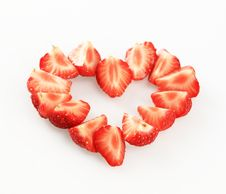 Free Strawberry Heart Stock Image - 14881551