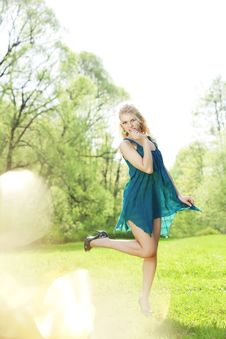 Free Beautiful Slender Girl In A Park Stock Photos - 14881583