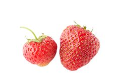 Free Two Juicy Strawberry Isolated Royalty Free Stock Photos - 14881788
