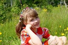 Portrait Of The Beautiful Child Stock Image