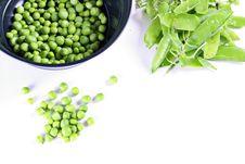 Fresh Shelled Peas Stock Photos